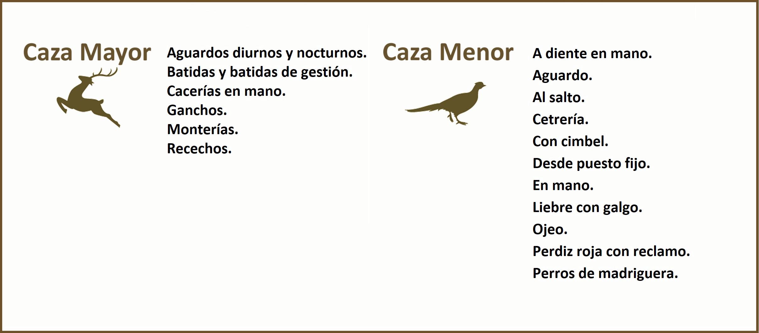 Modalidades de caza en Andalucía